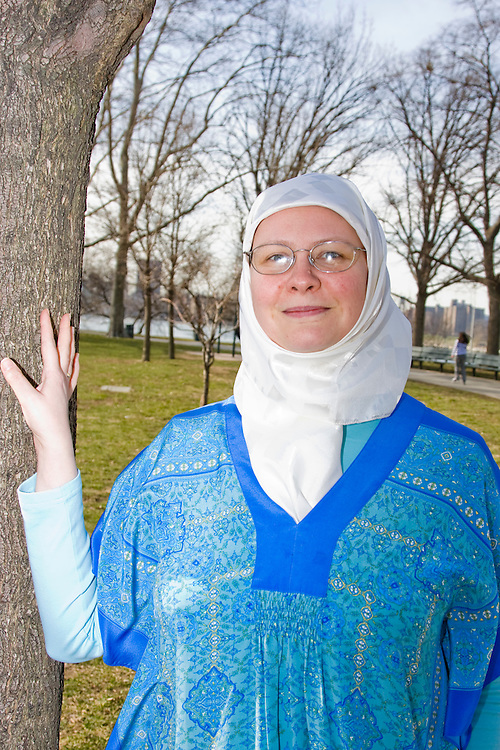 Rachel Harrell-Bilici, Astoria, grew up in Texas, identifies herself as a Muslim American