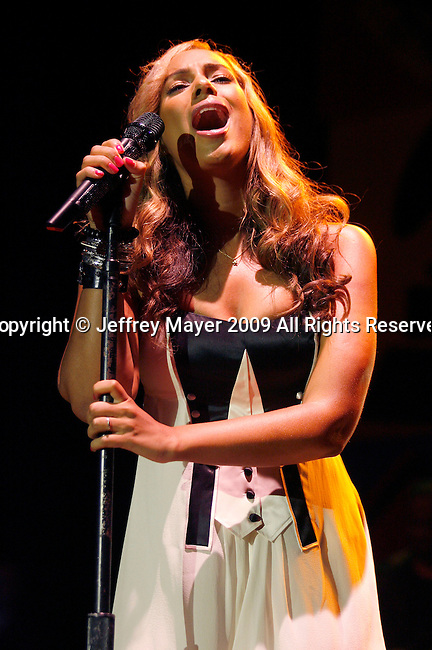HOLLYWOOD, CA. - April 09: Leona Lewis  performs at the 2009 Grammy Celebration Concert Tour presented by T-Mobile Sidekick at the Hollywood Palladium on April 9, 2009 in Hollywood, California.