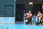 November 16 2011 - Guadalajara, Mexico:  Canada's Adam Dukovich and Caroline Vietnieks during their bronze medal match in the Multipurpose Gymnasium Revolución at the 2011 Parapan American Games in Guadalajara, Mexico.  Photos: Matthew Murnaghan/Canadian Paralympic Committee