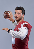 NWA Democrat-Gazette/BEN GOFF &bull; @NWABENGOFF<br /> Brandon Allen, senior quarterback from Fayetteville, poses for a photo on Sunday Aug. 9, 2015 during Arkansas football media day at the Fred W. Smith Football Center in Fayetteville.