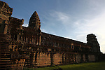 Dusk at the central temple complex at Angkor Wat, Cambodia. June 9, 2013.