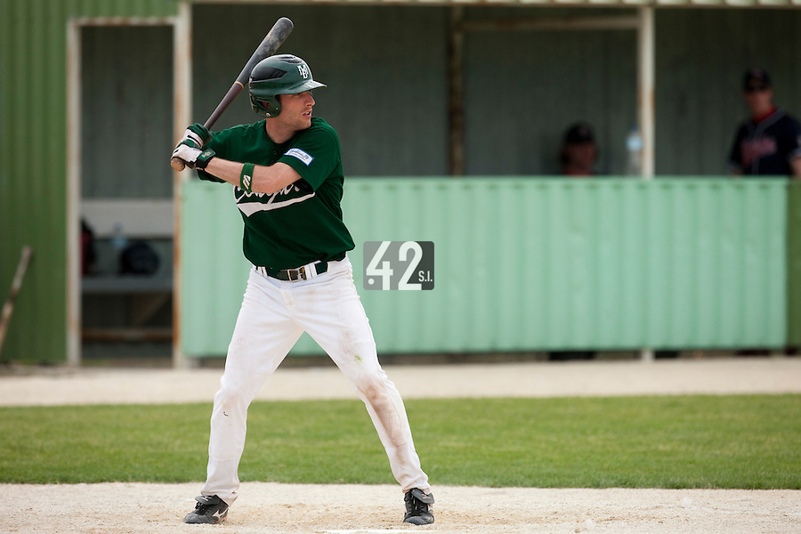 22 May 2009: Alexandre Couton of Montigny is seen at bat during the 2009 challenge de France, a tournament with the best French baseball teams - all eight elite league clubs - to determine a spot in the European Cup next year, at Montpellier, France.