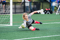 Allston, MA - Sunday, May 22, 2016: Boston Breakers goalkeeper Libby Stout (1) during warmups before a regular season National Women's Soccer League (NWSL) match at Jordan Field.