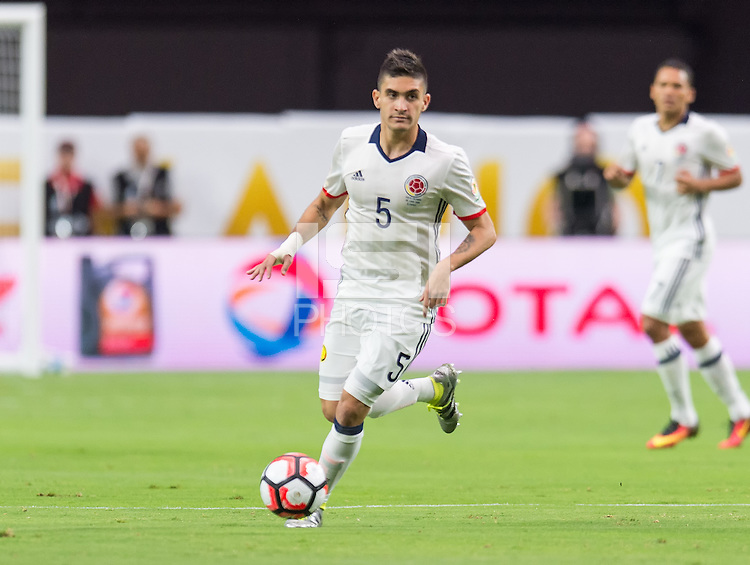 Glendale, AZ - Saturday June 25, 2016: Guillermo Celis during a Copa America Centenario third place match match between United States (USA) and Colombia (COL) at University of Phoenix Stadium.