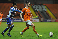 Blackpool's James Husband under pressure from Reading's Michael Olise<br /> <br /> Photographer Kevin Barnes/CameraSport<br /> <br /> Emirates FA Cup Third Round Replay - Blackpool v Reading - Tuesday 14th January 2020 - Bloomfield Road - Blackpool<br />  <br /> World Copyright © 2020 CameraSport. All rights reserved. 43 Linden Ave. Countesthorpe. Leicester. England. LE8 5PG - Tel: +44 (0) 116 277 4147 - admin@camerasport.com - www.camerasport.com