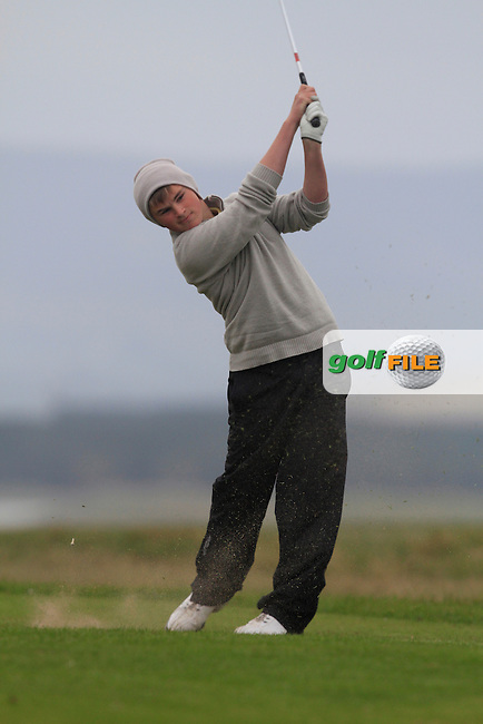 Declan Kelly (Hermitage) in the play-off during the Preliminary round of The West of Ireland in Sligo Golf Club on Wednesday 16th April 2014.<br /> Picture:  Thos Caffrey / www.golffile.ie