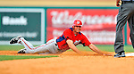 3 March 2011: Washington Nationals' outfielder Rick Ankiel slides back safely into second base during a Spring Training game against the St. Louis Cardinals at Roger Dean Stadium in Jupiter, Florida. The Cardinals defeated the Nationals 7-5 in Grapefruit League action. Mandatory Credit: Ed Wolfstein Photo