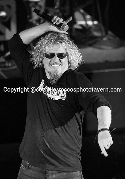 Chickenfoot at The Orpheum in Boston May 16th 2012. Sammy Hagar, Chad Smith, Joe Satriani, Michael Anthony and Kenny Aronoff.