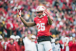 Wisconsin Badgers defensive back Derrick Tindal (25) during an NCAA College Big Ten Conference football game against the Iowa Hawkeyes Saturday, November 11, 2017, in Madison, Wis. The Badgers won 38-14. (Photo by David Stluka)