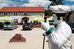 Gietrzwałd, (woj. warmińsko-mazurskie) 19.07.2015. Sanktuarium Maryjne w Gietrzwałdzie.