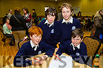 At the Credit Union Primary schools  Table Quiz in Brandon Hotel on Sunday were Tom Brett, Diarmuid Griffin, Back l-r Oisin Murray, Dillon Griffin from St. Brendan NS Blennervile