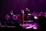 Singers Luciano Pereyra (L) and Pastora Soler during concert of Festival Unicos. September 23, 2019. (ALTERPHOTOS/Johana Hernandez)