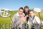 KING OF CLUBS:Killarney golfers Audie Dunlea, Micheal Collins and David Leacy pictured  at  the 2007 Kerry Junior Golf League in Ballybunion on Thursday last.