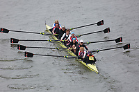 Crew: 153   Barnes Bridge Ladies Rowing Club/Mortlake AABC/Fredensborg RC (DK)/Upper Thames Rowing Club/Thames RC   W.MasEF.8+ (E)<br /> <br /> Veterans' Head of the River Race 2018<br /> <br /> To purchase this photo, or to see pricing information for Prints and Downloads, click the blue 'Add to Cart' button at the top-right of the page.