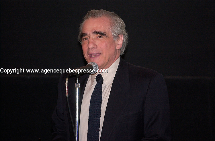 Sept 6 2003, Montreal, Quebec, CANADA<br /> <br /> Martin Scorcese  before the screning of his movie MEAN STREET ast the 2003  Montreal World Film Festival<br /> <br /> Photo by Sevy - Images Distribution<br /> (c) 2003, Pierre Roussel