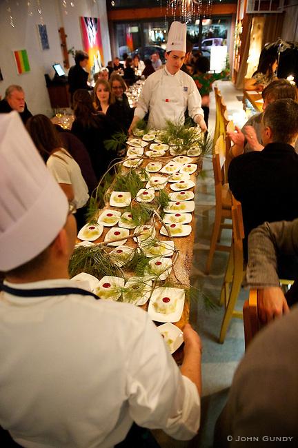 Delivering, Chef Michael Stadtlander's Gateaux Nippon table side