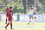 11 November 2007: North Carolina's Nikki Washington (right) leaps into the arms of teammate Yael Averbuch (17) after scoring the game's only goal, at the 26:43 mark of the first half. The University of North Carolina defeated Florida State University 1-0 at the Disney Wide World of Sports complex in Orlando, FL in the Atlantic Coast Conference Women's Soccer tournament final.