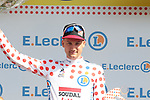 Tim Wellens (BEL) Lotto-Soudal takes over the mountains Polka Dot Jersey at the end of Stage 3 of the 2019 Tour de France running 215km from Binche, Belgium to Epernay, France. 8th July 2019.<br /> Picture: Colin Flockton | Cyclefile<br /> All photos usage must carry mandatory copyright credit (© Cyclefile | Colin Flockton)