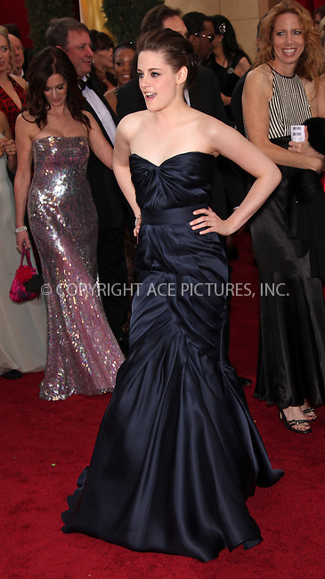 WWW.ACEPIXS.COM . . . . .  ....March 7 2010, Hollywood, CA....Kristen Stewart arriving at the 82nd Annual Academy Awards held at Kodak Theatre on March 7, 2010 in Hollywood, California.....Please byline: Z10-ACE PICTURES... . . . .  ....Ace Pictures, Inc:  ..Tel: (212) 243-8787..e-mail: info@acepixs.com..web: http://www.acepixs.com