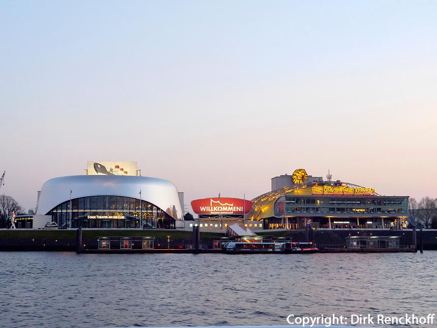 Musical Theater am Hafen, Hamburg, Deutschland, Europa<br /> musical theatres at port of Hamburg, Germany, Europe