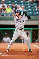Jackson Generals shortstop Galli Cribbs (2) at bat during a game against the Chattanooga Lookouts on May 9, 2018 at AT&T Field in Chattanooga, Tennessee.  Chattanooga defeated Jackson 4-2.  (Mike Janes/Four Seam Images)