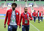 England's Nathaniel Chalobah and Nathan Redmond during the UEFA Under 21 Semi Final at the Stadion Miejski Tychy in Tychy. Picture date 27th June 2017. Picture credit should read: David Klein/Sportimage