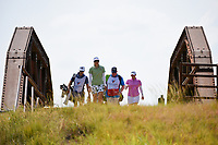 Pernilla Lindberg (SWE) makes her way across the bridge to the tee on 2 during the round 2 of the Volunteers of America Texas Classic, the Old American Golf Club, The Colony, Texas, USA. 10/4/2019.<br /> Picture: Golffile | Ken Murray<br /> <br /> <br /> All photo usage must carry mandatory copyright credit (© Golffile | Ken Murray)