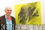"""admiring one of the paintings at the Art Exhibition """"Mouth of Fire"""" in The Blue Gallery Listowel on Friday night."""