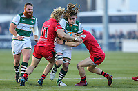 Jordy REID of Ealing Trailfinders Match action during the Greene King IPA Championship match between Ealing Trailfinders and Jersey Reds at Castle Bar , West Ealing , England  on 22 December 2018. Photo by David Horn.
