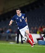 23rd March 2018, Hampden Park, Glasgow, Scotland; International Football Friendly, Scotland versus Costa Rica; Scott McKenna made his debut for Scotland