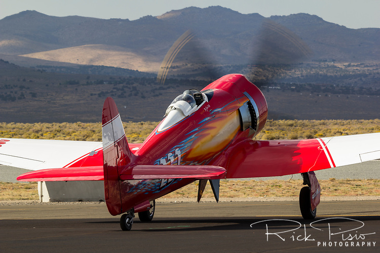 Pilot Hoot Gibson prepares to taxi the Hawker Sea Fury 232 at the 2013 National Championship Air Races in Reno, Nevada.