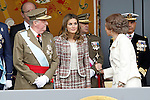 Juan Carlos I King of Spain, Princess Letizia of Spain and Sofia Queen of Spain attend the National Day Military Parad.October 12,2012.(ALTERPHOTOS/Acero)