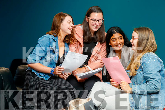 Aoife O'Mahony (Clahane), Shóna Gleeson (Gneeveguilla), Tasnem Ali (Tralee) and Édith de Faoite (Kilflynn), Brookfield College, Tralee, who received their Leaving Certificate results on Tuesday morning last.