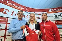 SCHAATSEN: Team Corendon, Corendon directeur Atilay Uslu, Koen Verweij, Jan van Veen, ©foto Martin de Jong