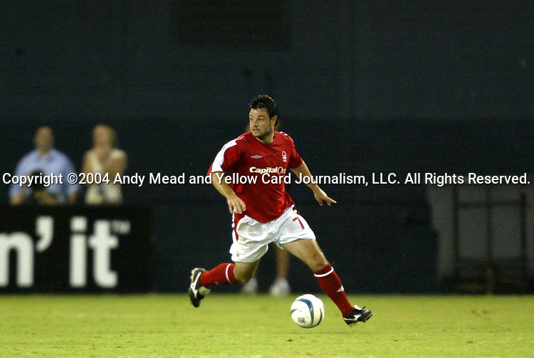14 July 2004: Andy Reid. DC United defeated Nottingham Forest of England First Division 4-3 on penalties after the teams played to a 1-1 draw at RFK Stadium in Washington, DC during an international exhibition match..