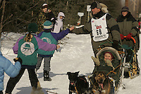 March 3, 2007.  Anchorage, Alaska. Kevin Morlak.  On the ceremonial start day of the Iditarod Trail Sled Dog Race