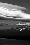 """""""Freel's Crown"""" Freel Peak- Lake Tahoe, CA.  This spectacular lenticular cloud formed over South Lake Tahoe and Freel Peak, 10,881 ft.  Freel Peak is one of my favorite peaks in California.  Lenticular clouds only form in a few mountain ranges around the world.  I love Black and White photography!  I started in B/W film and still love it today."""