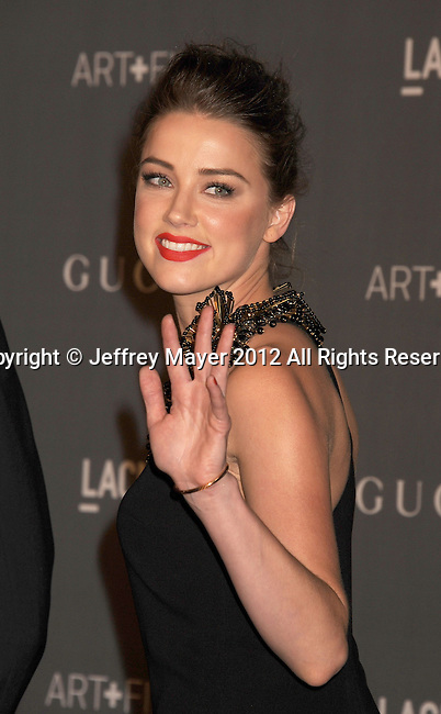 LOS ANGELES, CA - OCTOBER 27: Amber Heard arrives at LACMA Art + Film Gala at LACMA on October 27, 2012 in Los Angeles, California.
