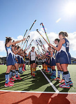 Iona celebrate. Federation Cup Secondary Schools hockey finals between Iona College and Napier Girls High School. Whangarei,  New Zealand. Saturday 8 September 2018, photo: Simon Watts/www.bwmedia.co.nz/Hockey NZ