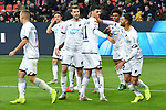 03.11.2018, BayArena, Leverkusen, GER, 1. FBL,  Bayer 04 Leverkusen vs. TSV 1899 Hoffenheim,<br />  <br /> DFL regulations prohibit any use of photographs as image sequences and/or quasi-video<br /> <br /> im Bild / picture shows: <br /> Torjubel / Jubel / Jubellauf,    Hoffenheim beim 3:1<br /> Foto &copy; nordphoto / Meuter