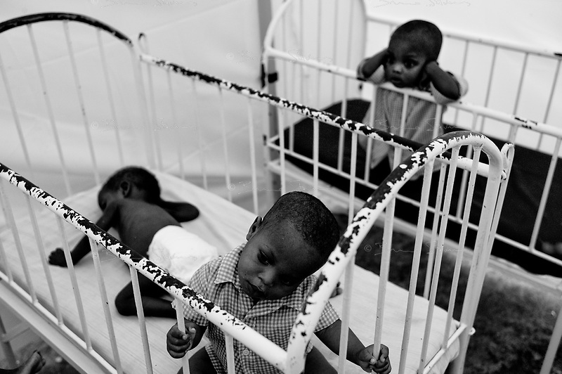 Jacmel, Haiti, Jan 19 2010.The 'MIssionnaires de la Charité' institution, home to 81 children,  is one of the beneficiaries of the WFP's 8400 hot meals per day program in Jacmel...