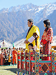 29.12.2017; Gasa, Bhutan: PRINCE JIGME, KING WANGCHUCK AND QUEEN JETSUN PEMA OF BHUTAN<br /> attend the Silver Jubilee celebration of Gasa as a Dzongkhag. <br /> Mandatory Credit Photo: &copy;NEWSPIX INTERNATIONAL<br /> <br /> IMMEDIATE CONFIRMATION OF USAGE REQUIRED:<br /> Newspix International, 31 Chinnery Hill, Bishop's Stortford, ENGLAND CM23 3PS<br /> Tel:+441279 324672  ; Fax: +441279656877<br /> Mobile:  07775681153<br /> e-mail: info@newspixinternational.co.uk<br /> Please refer to usage terms. All Fees Payable To Newspix International