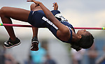 Centennial's Anyese James-Kirkland competes in the high jump at the NIAA Track & Field Championships at Carson High in Carson City, Nev., on Friday, May 18, 2018. Cathleen Allison/Las Vegas Review-Journal