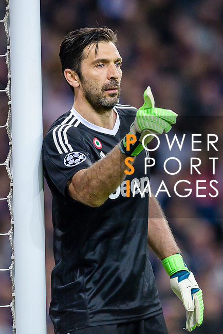 Goalkeeper Gianluigi Buffon of Juventus gestures during the UEFA Champions League 2017-18 quarter-finals (2nd leg) match between Real Madrid and Juventus at Estadio Santiago Bernabeu on 11 April 2018 in Madrid, Spain. Photo by Diego Souto / Power Sport Images