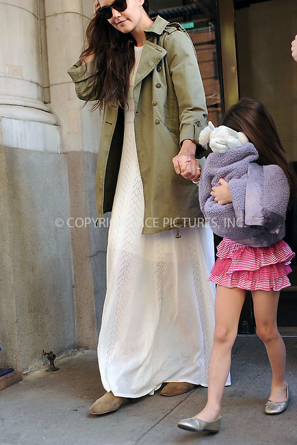 WWW.ACEPIXS.COM . . . . . ....April 18 2012, New York City....Actress Katie Holmes takes her daughter Suri Cruise out on Suri's 6th birthday on April 18 2012 in New York City....Please byline: KRISTIN CALLAHAN - ACEPIXS.COM.. . . . . . ..Ace Pictures, Inc:  ..(212) 243-8787 or (646) 679 0430..e-mail: picturedesk@acepixs.com..web: http://www.acepixs.com