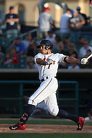 Carlos Correa #1 of the Lancaster JetHawks bats against the San Jose Giants at The Hanger on May 3, 2014 in Lancaster, California. San Jose defeated Lancaster, 5-4. (Larry Goren/Four Seam Images)