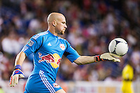 New York Red Bulls goalkeeper Bill Gaudette (88). The New York Red Bulls defeated the Columbus Crew 3-1 during a Major League Soccer (MLS) match at Red Bull Arena in Harrison, NJ, on September 15, 2012.