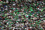 ASSE supporters during the French Ligue 1 Football Match AS Saint Etienne vs AC Ajaccio on 24/04/2013 in Saint-Etienne, France