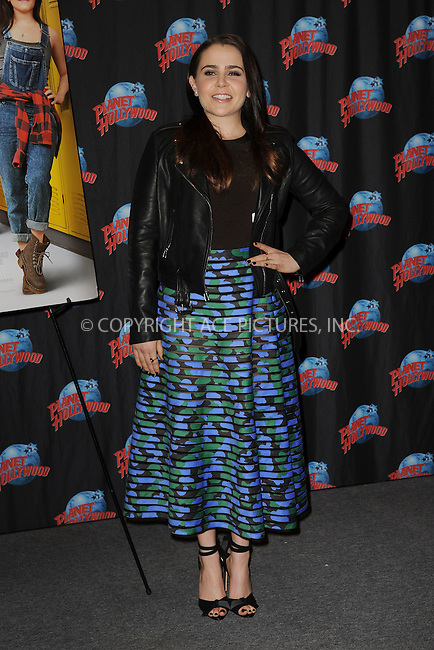 WWW.ACEPIXS.COM<br /> February 19, 2015 New York City<br /> <br /> Mae Whitman of 'The Duff'  visits Planet Hollywood Times Square on February 19, 2015 in New York City.<br /> <br /> Please byline: Kristin Callahan/AcePictures<br /> <br /> ACEPIXS.COM<br /> <br /> Tel: (646) 769 0430<br /> e-mail: info@acepixs.com<br /> web: http://www.acepixs.com