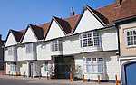 Grade One sixteenth century buildings with seventeenth century plaster frontage, High Street, Colchester, Essex, England